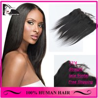 """Cheap 7A Cheapest virgin malaysian hair straight frontal 13x4"""" swiss Full Lace Frontal Straight bleached knots can be DYED Free shipping"""