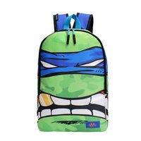 backpack cartoon images - cartoon turtle image printed backpack made by nylon backpacks japan and korean fashion mochila hot on sale top quality