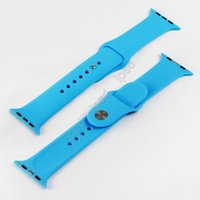 Wholesale 1 Original Silicone Wrist Band Watchband With Connector Adapter Clip For Apple Watch iWatch Strap Buckle Sport Buckle Bracelet MM MM