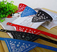 Wholesale Cute Dog Cat Collars Pet Puppy Leads Bandana Adjustable Triangle Scarf Pet Collar Neckerchief Size Colours Mix