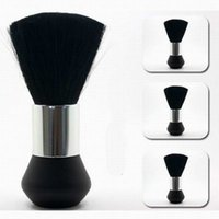 barber beauty - Salon Neck Brush Professional Beauty Barber Brush Clear Hair Plastic Black Color piece per Polybag Packing DHL Free Shipment