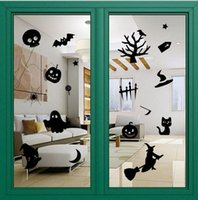 double glass window - 2015 holloween wall stickers shop window sttickers glass stickers removable waterproof double side environmental free DHL