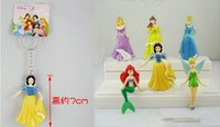belle keychain - 10sets cm Styles Cartoon Fairy Tale Princess Snow White Belle Beautiful Faery Mermaid Action Figure Model Keychain Charm