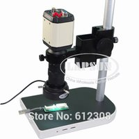av table - 3in1 MP HD Adjustable Industry Industrial Microscope Camera Set VGA CVBS AV TV USB Output C mount Lens Table Stand Holder