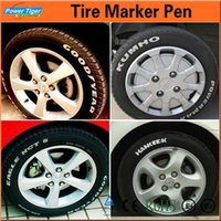 Cheap Dropshping 2pcs lot White Portable Car Motorcycle Bike Tyre Tire Tread Rubber Paint Marker Pen with Repair Remover Pen Wholesale