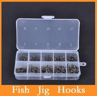 ice box - High quality box Fish Jig Hooks with Hole Fishing Tackle Box Sizes Carbon Steel Dropshipping