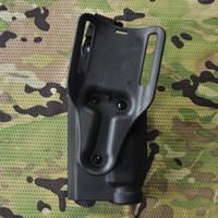 Wholesale Safariland Waist Holster With Light Tactical Holster For Airsoft Paintball Belt Gun Holster CS Game Combat Gun Pouch
