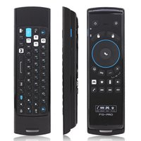 Wholesale Mele F10 Pro Fly Air Mouse GHz Wireless Mini keyboard Mouse IR Remote Control With Earphone Micphone Speaker For TV BOX Play Games