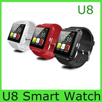 Wholesale Smartwatch U8 U Watch Bluetooth Smart Watch Wrist Watches for iPhone S S Samsung S4 S5 Note Note HTC Android Phone Smartphone