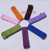 Wholesale 300 BBA5510 Cotton YOGA Belt Tension Rope Yoga Strap Yoga Stretch Bands Yoga Tension Bands Pilates Bands Training Belt Fitness Gym Long belt