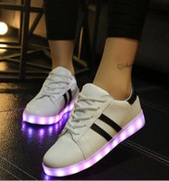 Wholesale New Mens Womens Sneakers Luminous USB Charging Colorful LED lights Sneakers Casual Flat Shoes Zapatos Hombre