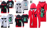 warm up jackets - 10pcs minecraft hoodie boys colors child minecraft sweatshirts for boys Creeper Coat costume minecraft jacket boys warm zip up hoodie