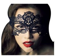 Wholesale 1PC Black Sexy Lady Lace Mask Cutout Halloween Eye Mask for Masquerade Party Fancy Dress Costume Z127