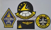 air navy fighters - US Navy VFA Air Force Eagle Eagles fighter attack aircraft squadron sets chapter badge