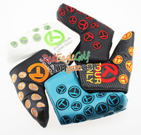 Wholesale New Golf putter headcover T clubs headcover top quality PU Golf headcover with colors in choice putter headcover