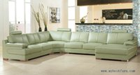 beige leather sofas - Beige Green Sofa Large size leather Sofa Real Cow Leather Settee modern design furniture Living room sofa set