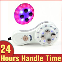 Wholesale Portable RF Radio Frequency Colors LED Skin Rejuvenation Wrinkle Removal Anti aging Mini Beauty Machine Home Use
