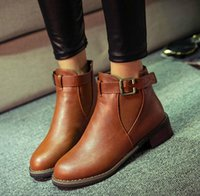Wholesale European the elastic with short boots Fashion Autumn Winter Women Joker Casual Martin boots