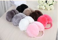 Wholesale Hot selling Lovely plush earmuff Unisex Soft Fur Fluffy Plush Ear Warmer Muff Christmas gift