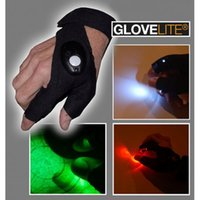 auto repair gloves - NEW GLOVELITE luminous sports gloves auto repair lighting gloves fishing outdoor repair artifact ciclismo cycling gloves