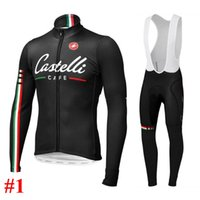 Wholesale 2014 castelli long sleeves cycling jersey Autum winter Fleece None Fleece cycling jerseys bib none bib shorts both for man and women