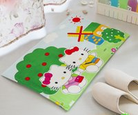 Wholesale 16 Color Option Lovely Soft Comfortable Hello Kitty Slip Proof Home Gate Bed Carpet Floor Mat SIze CM