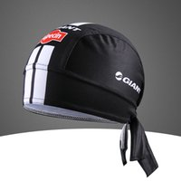 Wholesale GIANT ALPECIN Pro Team Black Cycling Headbands Scarf cap Bicycle Bike Bandana Accessories Breathable Cycling Hat