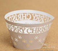 iron fence - 120pc Cupcake wrappers cup cake art fence white iron FOR Wedding christmas Party Decoration E