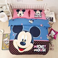 Wholesale 2016 Hot Seller Cotton Mickey Bed Set Baby Mickey Mouse Bedding Set Comforter Sets On Sale