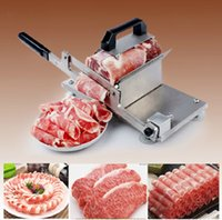 Wholesale Hot sell stainless steel manual slicer mutton roll beef meat slicer