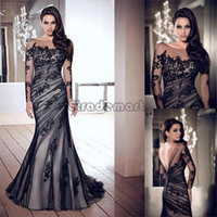 Wholesale Discount Backless women Lace dress Long Sleeve Maxi Dresses Long Party Evening Sexy Floor length O Neck Fashion S M L XL XXL