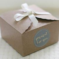 Wholesale 50 Mini Kraft Paper Cake Box Macaron Gift Bakery Cookie Favor Cupcake Chocolate Packaging Box Christmas Wedding TB35