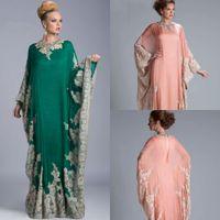 Cheap Abaya Dubai Prom Gowns Best Muslim Long Sleeve Evening Dresses
