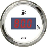 Wholesale 52mm Digital fuel level gauge SV KY10113 mA white faceplate signal for marine boat yatch Working Voltage V V