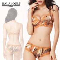 Wholesale Fashion Italy brand balaloum cotton cup comfortable and sexy push up bra women s underwear set D CUP