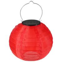 best solar lantern - Best Promotion Colorful Inch Solar Power Chinese Lantern LED Light Outdoor Garden Xmas Wedding Party Decor Lamp