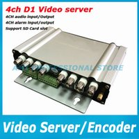 audio video server - Free Shipment IP Video server ch D1 resulition with PTZ alarm two way audio ip camera VIDEO ENCODER server support CCTV CAMERA