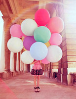 Wholesale Selected Inch Super Big Wedding Decoration Birthday Party Ballons Colors Latex Baloon In Stock Colorful