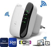 Router WR03 portátil de 2,4 GHz a 300 Mbps WiFi repetidor inalámbrico con Wall en receptáculo de apoyo Una clave de cifrado (CA 100 - 240 V) - UE TAPA