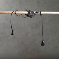 Wholesale US Standard Pendant Light E26 E27 Screw Bulb Light Lamp Holder w m Wire Edison LED Lamp Base Bulb Holder Drop Hanging Light