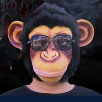 ape face - X MERRY SALE Adult Animal Chimp Monkey Ape Mask Fancy Dress Costume Party Accessory