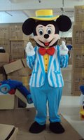 Alta calidad azul mickey traje de la mascota azul mickey traje de la mascota de Mickey Mouse del envío gratis