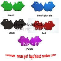 aluminium cloth - 1000pcs Mixed Color Mouse Pet Tags Dog Cat Id Tags Pet Name Tags Products Aluminium Alloy Tags Item DHL FedEx