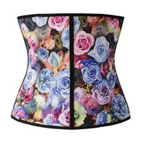 Wholesale 2015 New Popular S XL Colors Women Latex Rubber Waist Training Cincer Underbust Corset Body Shaper Shapewear DHL