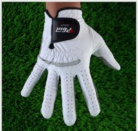 Wholesale Genuine Leather Golf Gloves Soft Breathable Pure Sheepskin Men s Left Right Hand Golf Gloves Golf accessories