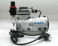 compressor de ar tatoo escova de ar, bomba de airbrush maquiagem desconto, mini pistão portátil oilless silenciosa AC 220V, Hseng AS18-2