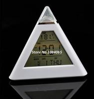 Wholesale New Digital LCD Screen Mini Desktop Color LED Projector Alarm Clock with Backlight Calendar Temperature TK0614