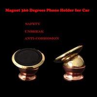 Wholesale Car holder phone Holder For Car Magnetic Mini Degrees Bracket Plated Dashboard Mobile Mount Car Phone Holder Universal Mobile