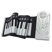 Wholesale Keys Flexible Hand Roll Digital Piano It s a Soft Keyboard Piano with Free Power adapter