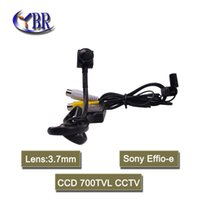 audio cctv shipping - 2016 HD sony effio e CCD mini CCTV security surveillance video camera with mm pinhole lens and audio wide angle